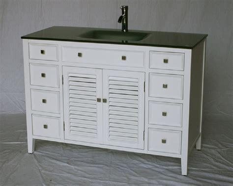 Coastal Bathroom Vanity 48 Inch White Coastal Cottage Style Bathroom Vanity Glass Top 48 Quot Wx21 Quot Dx35 Quot H S112848w