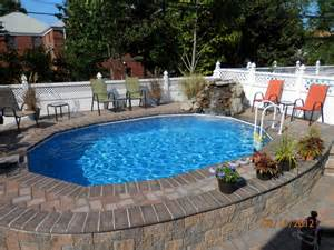 Cheap Plastic Chandeliers Semi In Ground Pools Traditional Pool New York By