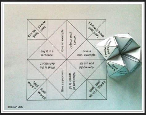 cootie catcher template teaching with cootie catchers lessons4now