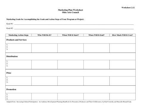 best photos of action plan worksheet free business plan