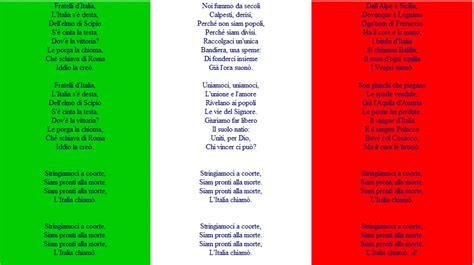 inno italia testo inno di mameli nei programmi proposta legge approvata al