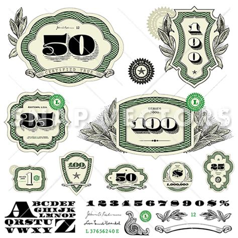money logo vector frame set snap vectors