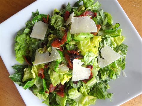 caesar salad with blue cheese and bacon recipe ina savory lessons caesar salad with bacon and brussels sprouts