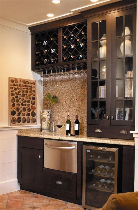 residential ice maker  traditional basement  bar