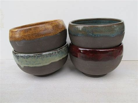 handmade stoneware bowls ceramic soup bowls in ruby