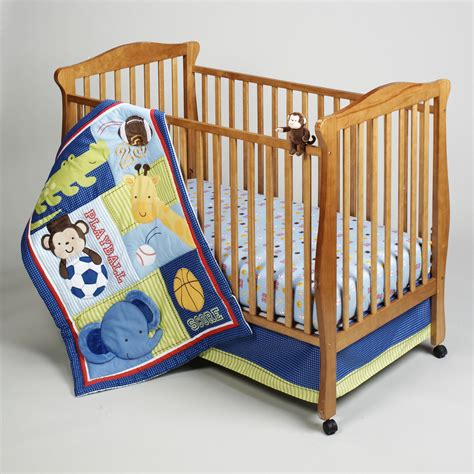Sears Crib Bedding Sets Bedding By Nojo Newborn Boy S Play Time Safari Four Bedding Set