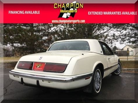 manual cars for sale 1991 buick riviera seat position control 1991 buick riviera 2dr coupe 84236 miles quot white diamond quot coupe v6 cylinder engin classic buick