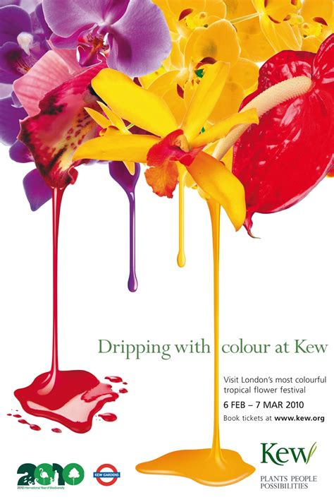 color ad kew gardens ads drip with colour to promote tropical