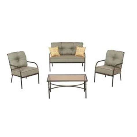 home depot martha stewart pacifica patio steel chat set