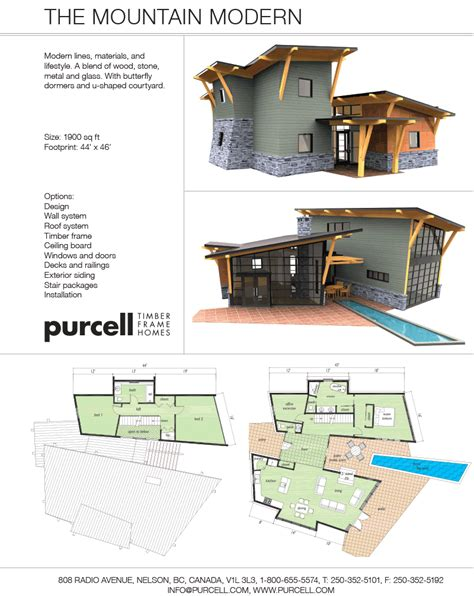 purcell timber frames the mountain modern prefab