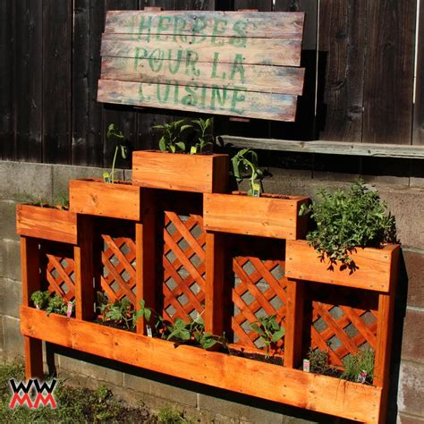 Patio Planter Box Plans by Make An Herb Garden Planter Woodworking For Mere Mortals