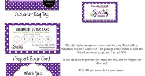 scentsy loyalty card template scentsy consultant business package by hannalandisdesigns