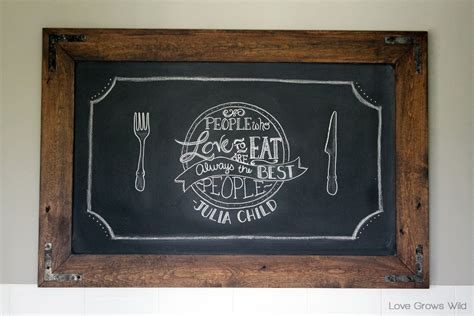 diy chalkboard with picture frame diy rustic industrial chalkboard grows