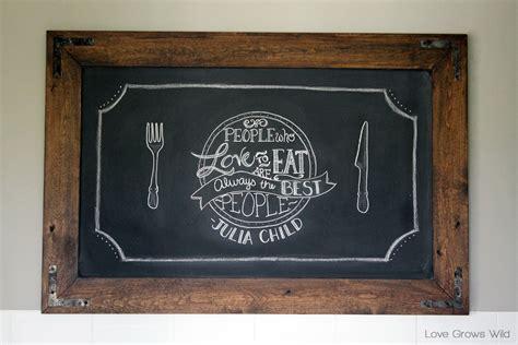 diy chalkboard frame diy rustic industrial chalkboard grows