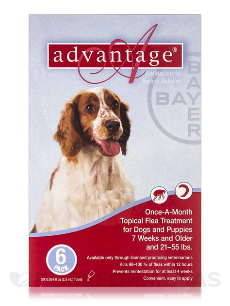 advantage for puppies advantage 174 for dogs and puppies 7 weeks and 21 55 lbs six 0 084 fl