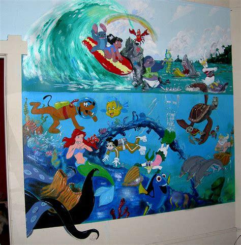 Mermaid Wall Murals disney mural painting by robert lettrick