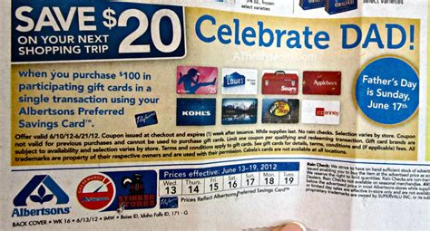Albertsons Gift Card Deal - albertsons gift card promo 20 free is always a good thing a thrifty mom