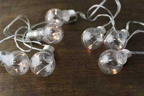 Led Bulb String Lights Lights In Clear Bulbs String Lights Led 20ct 28 Ft