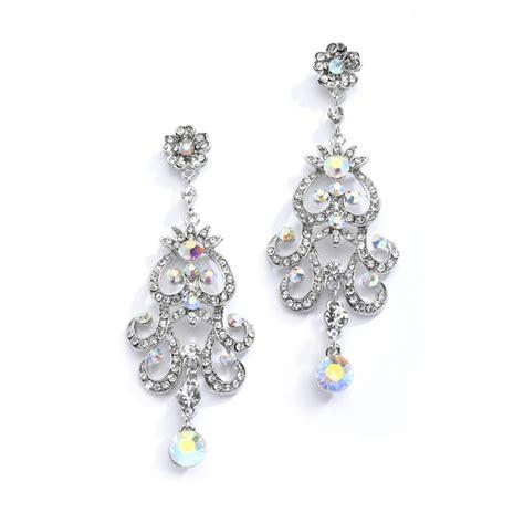 Vintage Bridal Chandelier Earrings Chandelier Earrings Wedding Ab Vintage