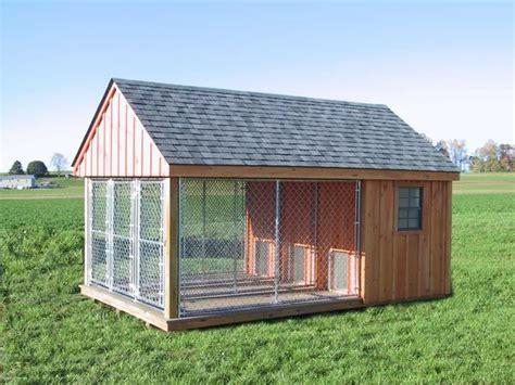 pa dutch built dog kennel outdoor run fence house