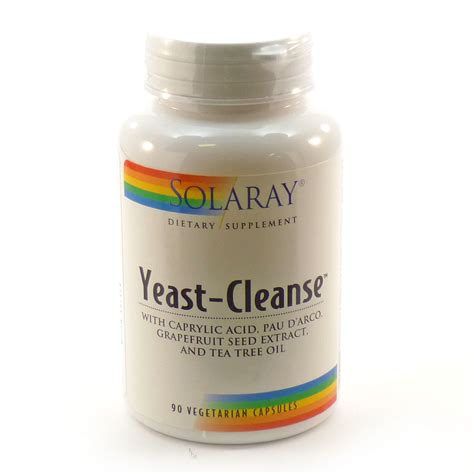 Yeast Fungal Detox by Yeast Cleanse By Solaray 90 Vegetable Caps
