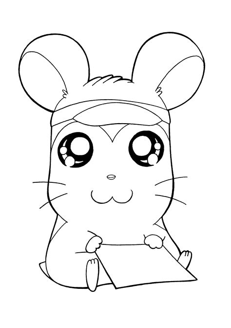 coloring page hamtaro coloring pages 142