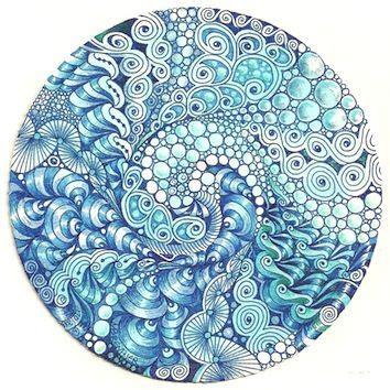 zentangle pattern water margaret bremner c 2013 www enthusiasticartist blogspot