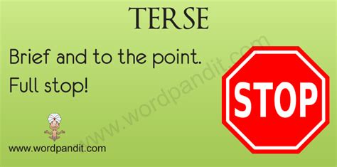 Brief Word Meaning Terse