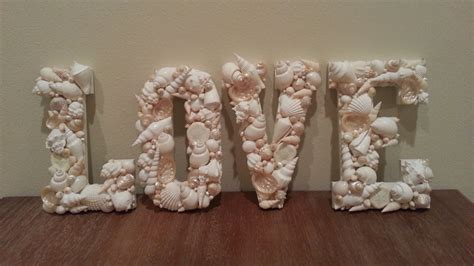 seashell home decor beach decor shell letters seashell letters home decor