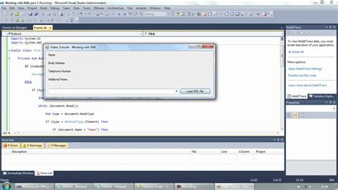 xml vb6 tutorial working with xml files part 2 reading xml visual basic