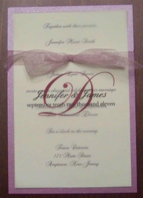 wedding invitation vellum overlay wedding invitation with monogram printed on vellum overlay