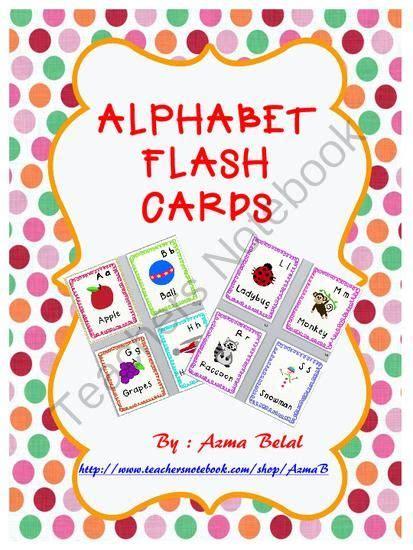 cute printable alphabet flash cards cute alphabet flash cards from stress free kindergarten on