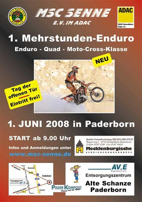 Erstes Motocross Motorrad by Msc Senne 1 Mehrstunden Endurorennen Atv Magazin