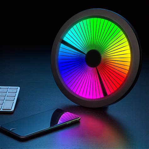 individual lights the chromatic led color spectrum clock by thinkgeek uses