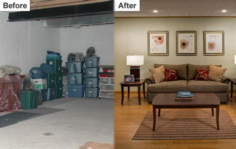 before and after basements basement finishing system philadelphia pa nj de