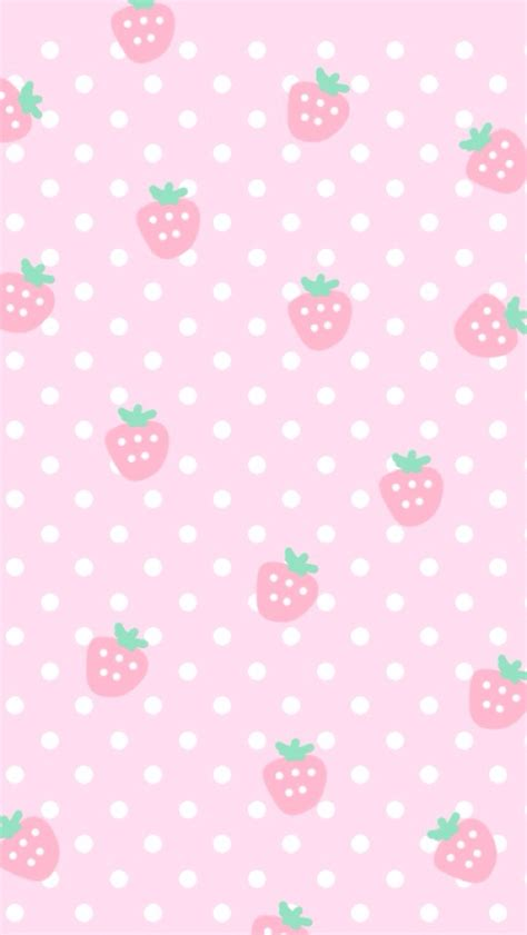 cute pattern wallpaper pink pink cute strawberries cocoppa iphone wallpaper iphone