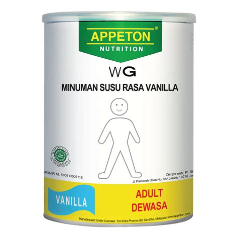 Appeton Weight Gain Kardus by Appeton Weight Gain Vanilla 450 Gr Gogobli