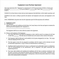 Equipment Lease Agreement Template Free Download Sample Equipment Rental Agreement Template 9 Free