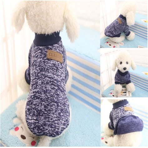 Pet Cat Puppy Sweater Hoodie Coat Clothes Warm Costume Apparel New ᗐclassic winter warm ჱ clothes clothes puppy pet cat jacket ᐃ coat coat fashion soft sweater