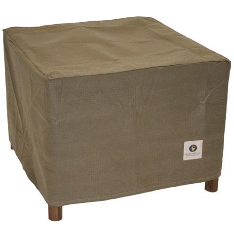 Ottoman Side Table Duck Covers Essential 26 In Square Patio Ottoman Or Side Table Cover Eot262618 The Home Depot