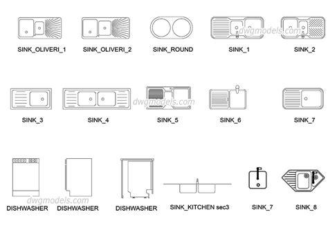 Kitchen Sink Cad Block Drop In Kitchen Sinks Free Cad Blocks Autocad File