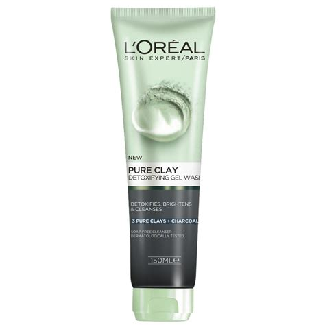 L Oreal Skin Care Clay Cleanser Detox Brighten by Buy Clay Charcoal Detoxifying Gel Wash 150 Ml By L