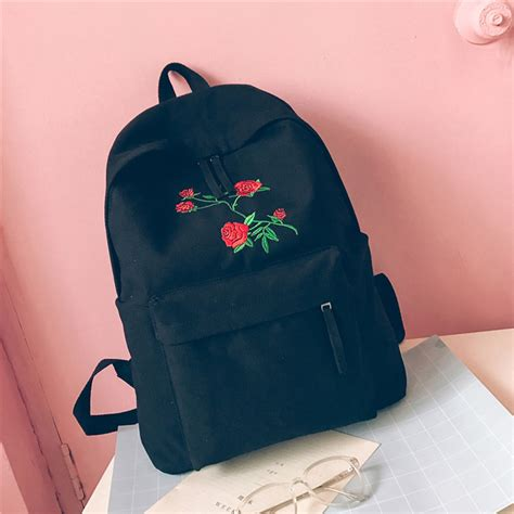 Embroidery Canvas Backpack canvas backpack fashion embroidery
