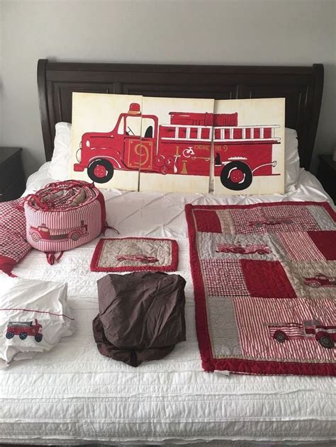 firetruck crib bedding pottery barn jake s firetruck bed crib skirt nursery bedding baby nursery bedding and babies