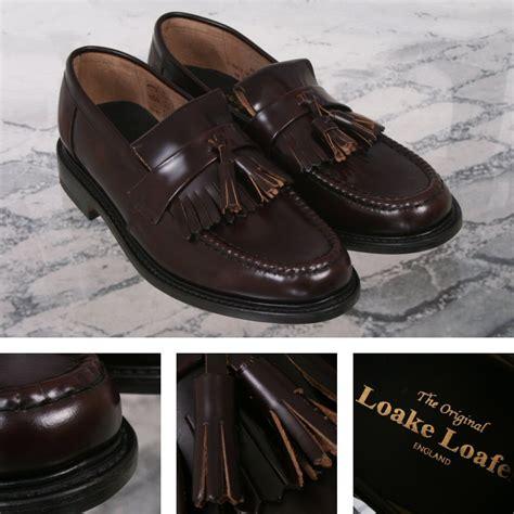 loake brighton loafers loake made in skin mod polished leather tassled
