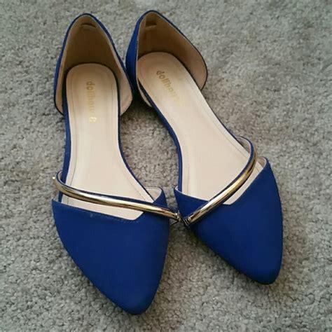 cobalt blue flats shoes 40 dollhouse shoes dollhouse cobalt blue flats from