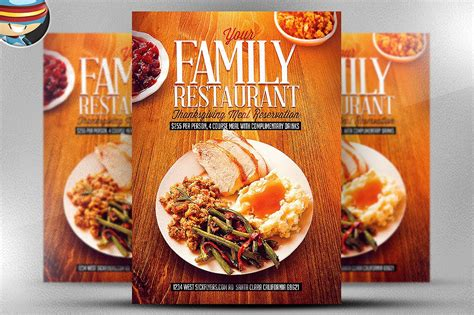 flyers design templates for restaurant thanksgiving restaurant template flyer templates