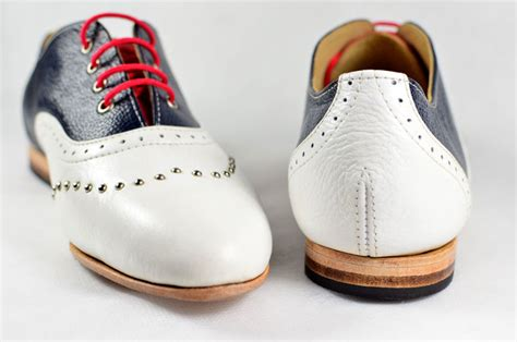 Handmade Oxford Shoes - women s handmade leather shoes tricolour oxford 02 marcue