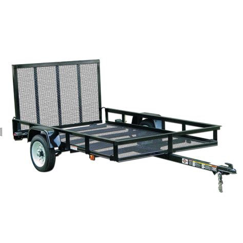 shop carry on trailer 5 ft x 8 ft wire mesh utility trailer with gate at lowes com
