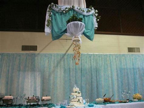 How to hide a basketball goal at a wedding reception